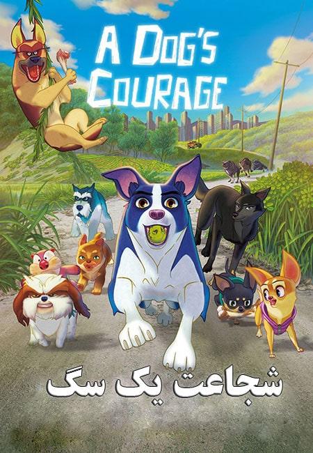 دانلود انیمیشن شجاعت یک سگ دوبله فارسی A Dog's Courage 2018